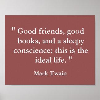Good Life Mark Twain Quote Poster Art Print