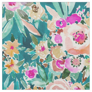 GOOD LIFE Tropical Colorful Floral Watercolor Fabric