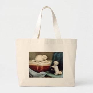 Good Little Fido and Naughty Kittie Canvas Bag