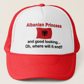 Good Lkg Albanian Princess Trucker Hat