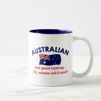Good Looking Australian Two-Tone Coffee Mug