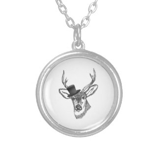 Good looking buck silver plated necklace