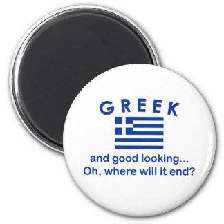 Good Looking Greek 6 Cm Round Magnet