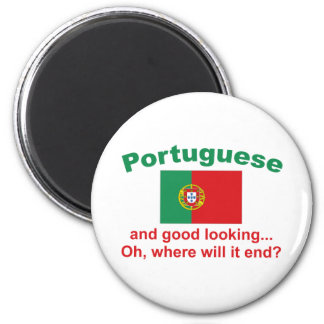 Good Looking Portuguese 6 Cm Round Magnet