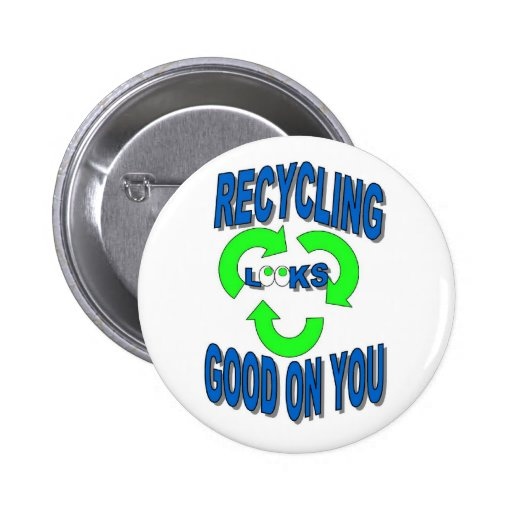 Good Looking Recycling Button