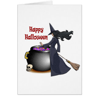 Good Looking Witch and the Cauldron Card