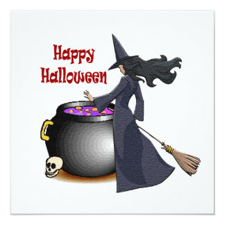 Good Looking Witch and the Cauldron Invite