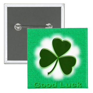 Good Luck 15 Cm Square Badge