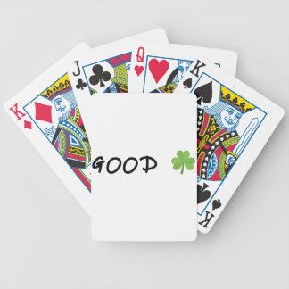Good Luck 4 leaf clover Emoji Special one Bicycle Playing Cards