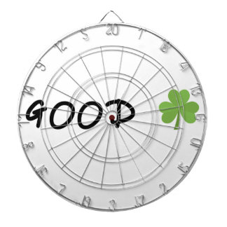 Good Luck 4 leaf clover Emoji Special one Dartboard
