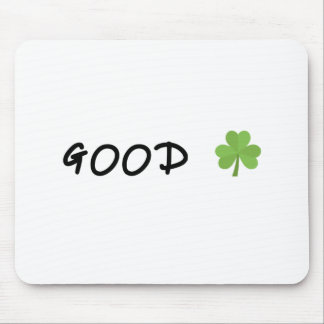 Good Luck 4 leaf clover Emoji Special one Mouse Pad