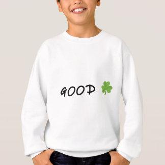 Good Luck 4 leaf clover Emoji Special one Sweatshirt
