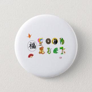 Good Luck 6 Cm Round Badge
