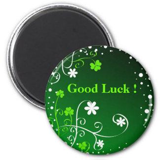 Good Luck ! 6 Cm Round Magnet
