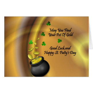 Good Luck And Happy St Patty apos s Day Cards