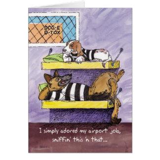 Good Luck at New Job - Doggy Detox Card