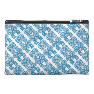Good Luck Blue Tiki Figure Travel Accessory Bag