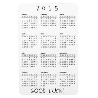 Good Luck Calendar 2015 Rectangular Photo Magnet
