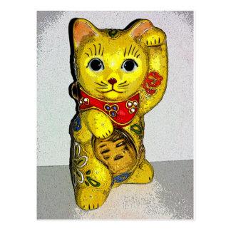 Good Luck Cats! Postcard