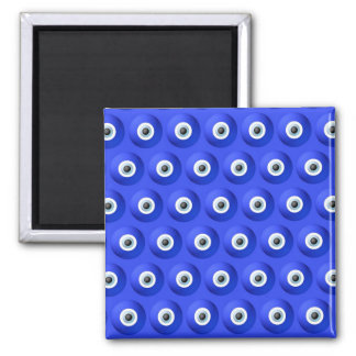 Good Luck Charms against Evil Eye Pattern Square Magnet