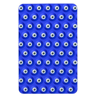 Good Luck Charms against Evil Eye Pattern Rectangle Magnets