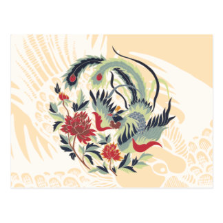 Good Luck Chinese Pheasant Art Postcard
