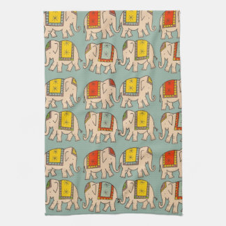 Good luck circus elephants cute elephant pattern tea towel