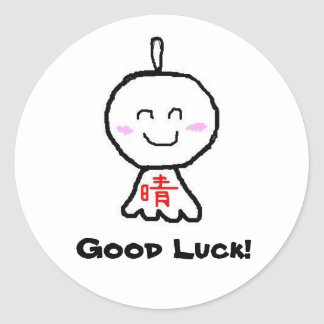 Good Luck! Classic Round Sticker
