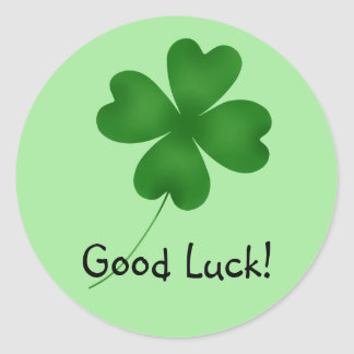 Good Luck clover Classic Round Sticker