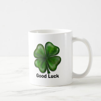 Good Luck Clover Coffee Mugs