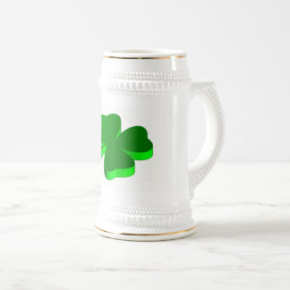 Good Luck Clover Green Funny Elegant Stein
