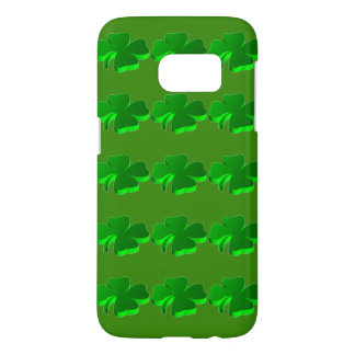 Good Luck Clover Pattern Green Funny Elegant