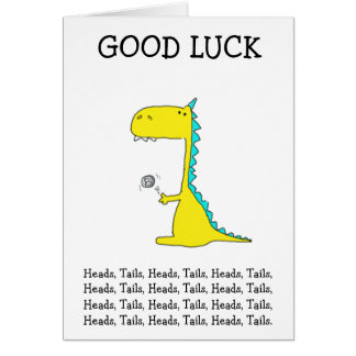 good luck dino greeting card