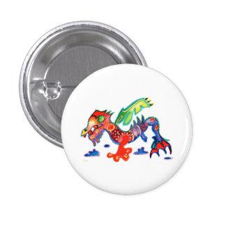 Good Luck Dragon,  Drache 3 Cm Round Badge
