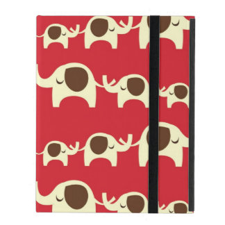 Good luck elephants cherry red cute nature pattern iPad case