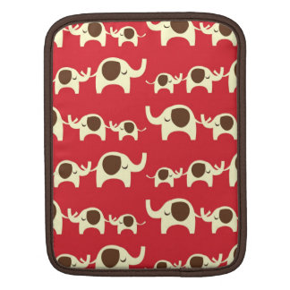 Good luck elephants cherry red iPad iPad 2 sleeve