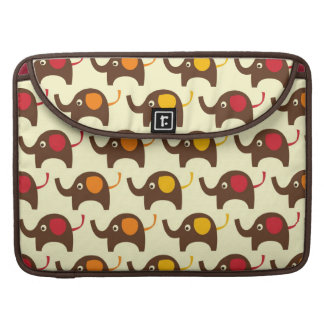 Good luck elephants kawaii cute nature pattern tan sleeve for MacBook pro