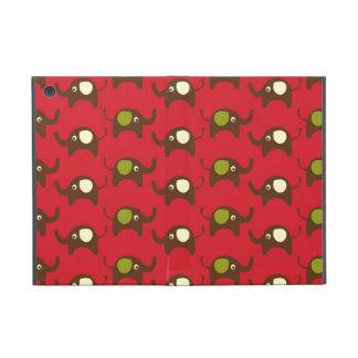Good luck elephants kawaii red cute animal pattern covers for iPad mini
