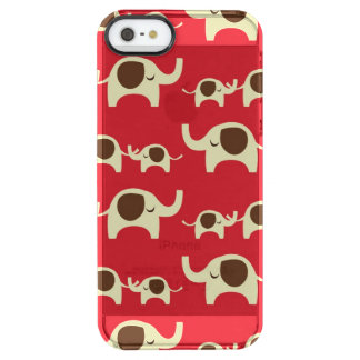 Good luck elephants red cute elephant clear clear iPhone SE/5/5s case