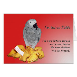 Good Luck Fortune Greeting Card