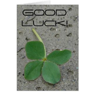 Good Luck! Four leaf Clover Greeting Card