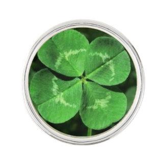Good Luck Four Leaf Clover Pin
