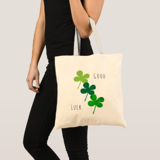 Good Luck Green Shamrocks Tote Bag