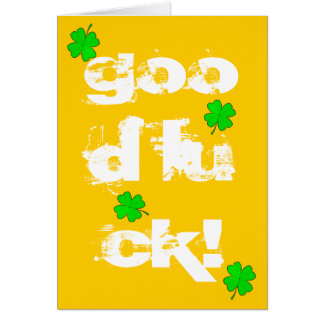 Good Luck Greeting Cards