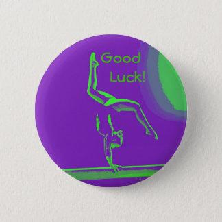 Good Luck gymnast button