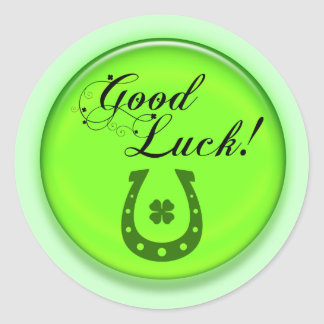 Good Luck Horse Shoe Classic Round Sticker
