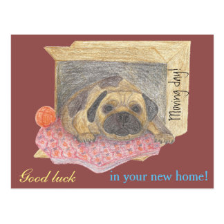 """Good luck in your new home"" card Postcard"
