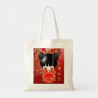 Good Luck Kokeshi Doll Budget Tote Budget Tote Bag