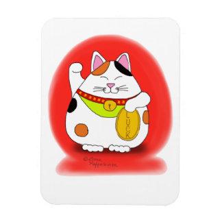 Good Luck Maneki Neko Rectangular Magnet