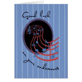Good Luck, Musical Endeavors Card